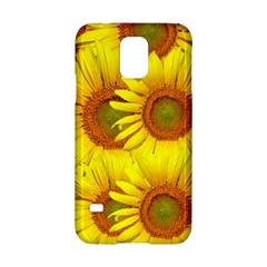 Sunflowers Background Wallpaper Pattern Samsung Galaxy S5 Hardshell Case