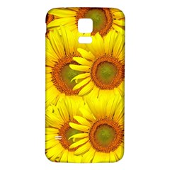Sunflowers Background Wallpaper Pattern Samsung Galaxy S5 Back Case (white)