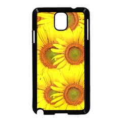 Sunflowers Background Wallpaper Pattern Samsung Galaxy Note 3 Neo Hardshell Case (Black)