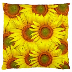 Sunflowers Background Wallpaper Pattern Large Flano Cushion Case (One Side)