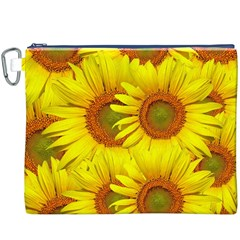 Sunflowers Background Wallpaper Pattern Canvas Cosmetic Bag (xxxl)