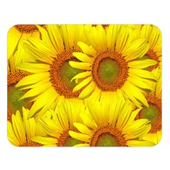 Sunflowers Background Wallpaper Pattern Double Sided Flano Blanket (large)