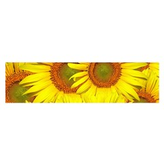 Sunflowers Background Wallpaper Pattern Satin Scarf (oblong)
