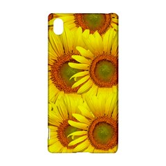 Sunflowers Background Wallpaper Pattern Sony Xperia Z3+