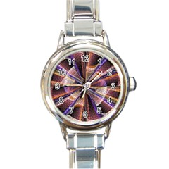 Background Image With Wheel Of Fortune Round Italian Charm Watch