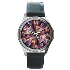 Background Image With Wheel Of Fortune Round Metal Watch