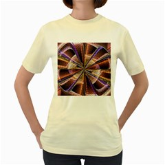 Background Image With Wheel Of Fortune Women s Yellow T Shirt