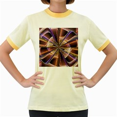 Background Image With Wheel Of Fortune Women s Fitted Ringer T-Shirts
