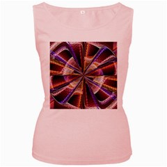 Background Image With Wheel Of Fortune Women s Pink Tank Top