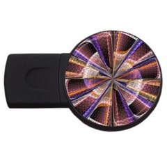Background Image With Wheel Of Fortune Usb Flash Drive Round (2 Gb)