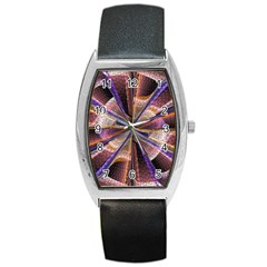 Background Image With Wheel Of Fortune Barrel Style Metal Watch