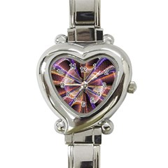 Background Image With Wheel Of Fortune Heart Italian Charm Watch
