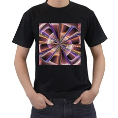 Background Image With Wheel Of Fortune Men s T-Shirt (Black) (Two Sided)