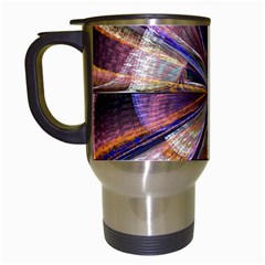 Background Image With Wheel Of Fortune Travel Mugs (White)