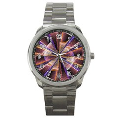 Background Image With Wheel Of Fortune Sport Metal Watch