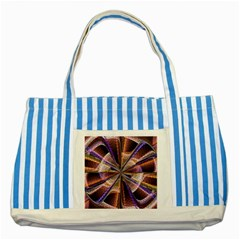 Background Image With Wheel Of Fortune Striped Blue Tote Bag