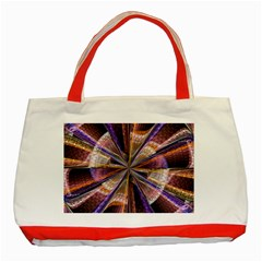 Background Image With Wheel Of Fortune Classic Tote Bag (red)