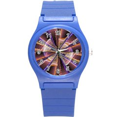 Background Image With Wheel Of Fortune Round Plastic Sport Watch (S)