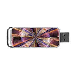 Background Image With Wheel Of Fortune Portable USB Flash (One Side)