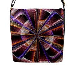 Background Image With Wheel Of Fortune Flap Messenger Bag (l)