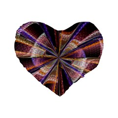 Background Image With Wheel Of Fortune Standard 16  Premium Flano Heart Shape Cushions