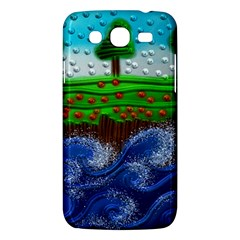 Beaded Landscape Textured Abstract Landscape With Sea Waves In The Foreground And Trees In The Background Samsung Galaxy Mega 5.8 I9152 Hardshell Case