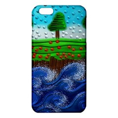 Beaded Landscape Textured Abstract Landscape With Sea Waves In The Foreground And Trees In The Background Iphone 6 Plus/6s Plus Tpu Case