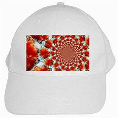 Stylish Background With Flowers White Cap