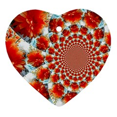 Stylish Background With Flowers Ornament (heart)