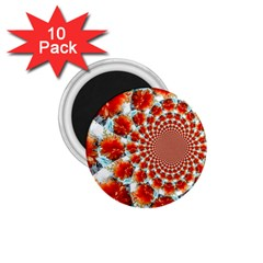 Stylish Background With Flowers 1.75  Magnets (10 pack)