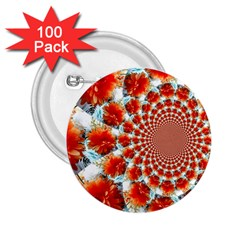 Stylish Background With Flowers 2 25  Buttons (100 Pack)