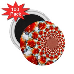 Stylish Background With Flowers 2 25  Magnets (100 Pack)