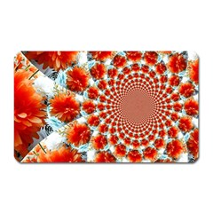 Stylish Background With Flowers Magnet (Rectangular)