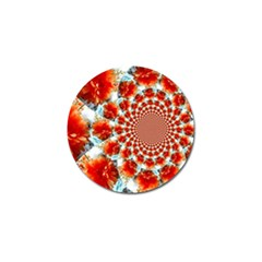 Stylish Background With Flowers Golf Ball Marker