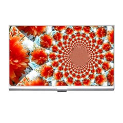 Stylish Background With Flowers Business Card Holders