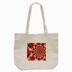 Stylish Background With Flowers Tote Bag (cream)