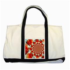Stylish Background With Flowers Two Tone Tote Bag