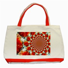Stylish Background With Flowers Classic Tote Bag (red)