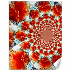 Stylish Background With Flowers Canvas 18  x 24