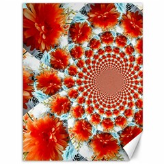 Stylish Background With Flowers Canvas 36  x 48
