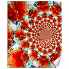 Stylish Background With Flowers Canvas 11  x 14