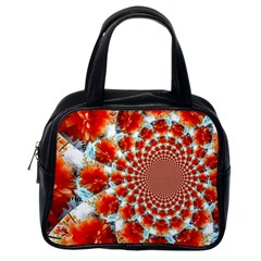Stylish Background With Flowers Classic Handbags (One Side)