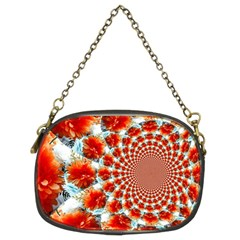 Stylish Background With Flowers Chain Purses (Two Sides)