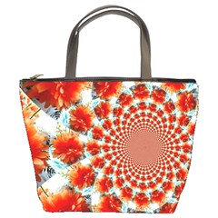 Stylish Background With Flowers Bucket Bags