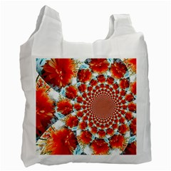 Stylish Background With Flowers Recycle Bag (Two Side)