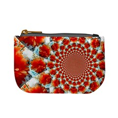 Stylish Background With Flowers Mini Coin Purses