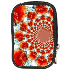 Stylish Background With Flowers Compact Camera Cases