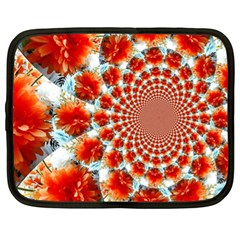 Stylish Background With Flowers Netbook Case (XL)