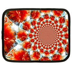 Stylish Background With Flowers Netbook Case (XXL)