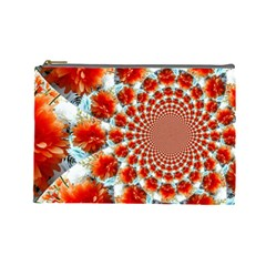 Stylish Background With Flowers Cosmetic Bag (Large)